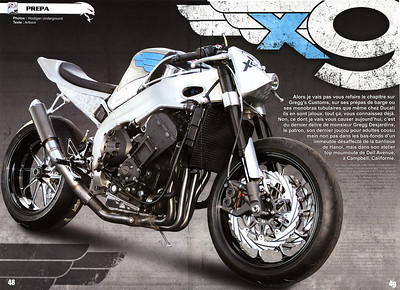 "EXCLUSIVE: GREGGS CUSTOMS ""x9"" R1 TRACKER 4 PAGE FEATURE COVERAGE IN STREET MONSTERS (France) ISSUE #21 Please order direct from the publisher: Visit STREETMONSTERS SITE  Click on any image to use cool lightbox viewing mode!!"