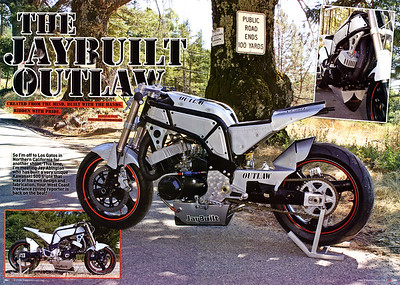"EXCLUSIVE:  4-PAGE FULL COLOR FEATURE ON JAY ABINGTON'S ONE-OF-A-KIND ""JAYBUILT OUTLAW"" IN STREETFIGHTERS MAG (UK) ISSUE # 215 (JAN. 2012)  STREETFIGHTERS MAG (UK) is the Worlds Premier Ultimate  Extreme M/C Publication ""A Maverick Cult on the Fringes of Respectable Motorcycling""  Click on any image to use cool lightbox viewing mode!!  Photos by Richard Kontas"