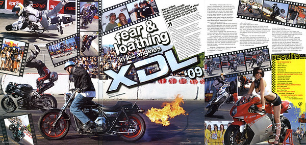 EXCLUSIVE - XDL Round 3 Los Angeles 3 page feature spread in STREETFIGHTERS # 191 But wait there's more...