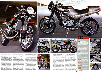 "Exclusive: Nick Gargano's RZR350 P40 ""Flying Tiger"" featured in Streetfighters (UK) magazine."
