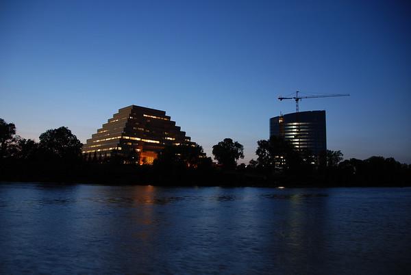 Dusk on the Sacramento River.