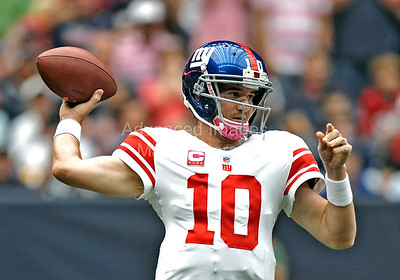 NFL Football: Giants vs Texans Oct. 10