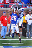 November 8, 2008:  <br /> #89 Carlos Singleton, WR of Memphis<br /> in action during the NCAA Football game between the SMU Mustangs and the Memphis Tigers at the Gerald J. Ford Stadium in Dallas, TX  Memphis defeated SMU 31-26. Manny Flores/Icon SMI