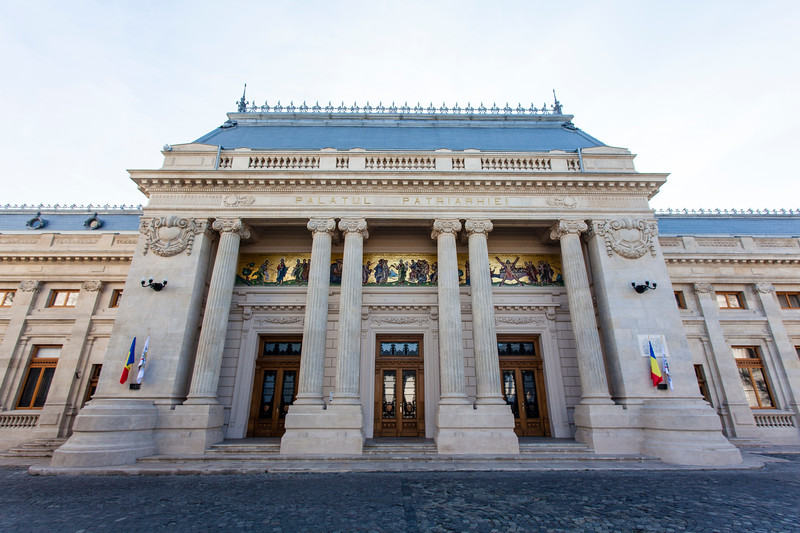 BUCHAREST. FACADE OF THE PATRIARCHAL PALACE.