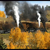The Cumbres & Toltec Scenic Railroad (A narrow gauge railroad that runs between Chama New Mexico and Antonito Colorado, climbing to over 10,000 feet and crossing the NM/CO border many times enroute)