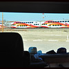 The Rail Runner at the Isleta Pueblo Stop (as seen through Phay's Windshield)