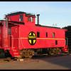 Red Santa Fe Caboose