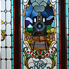 Stained glass window, Dunedin Train station, New Zealand
