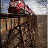 Rail Road - Tulip Trestle - Indiana - viaduct - 2295ft long, 157ft tall 3rd longest in world