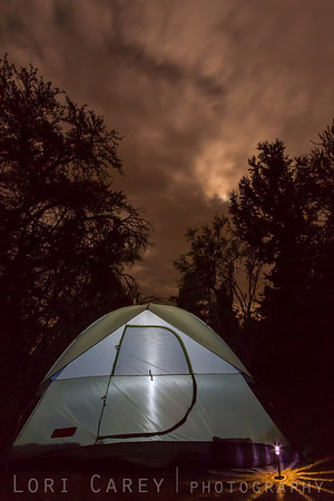 Camping at 8500 feet during a thunderstorm in Big Bear, took advantage of a break in the rain to grab a few shots of our tent.
