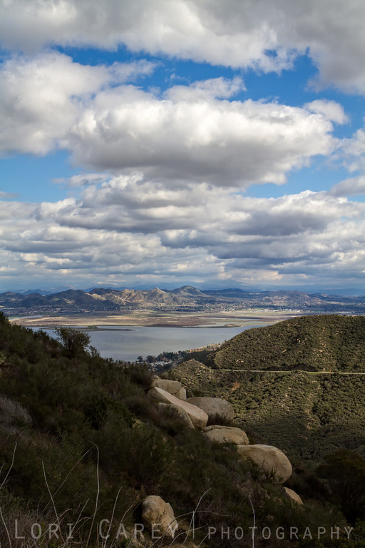 After the storm - Lake Elsinore viewed from the Ortega Highway