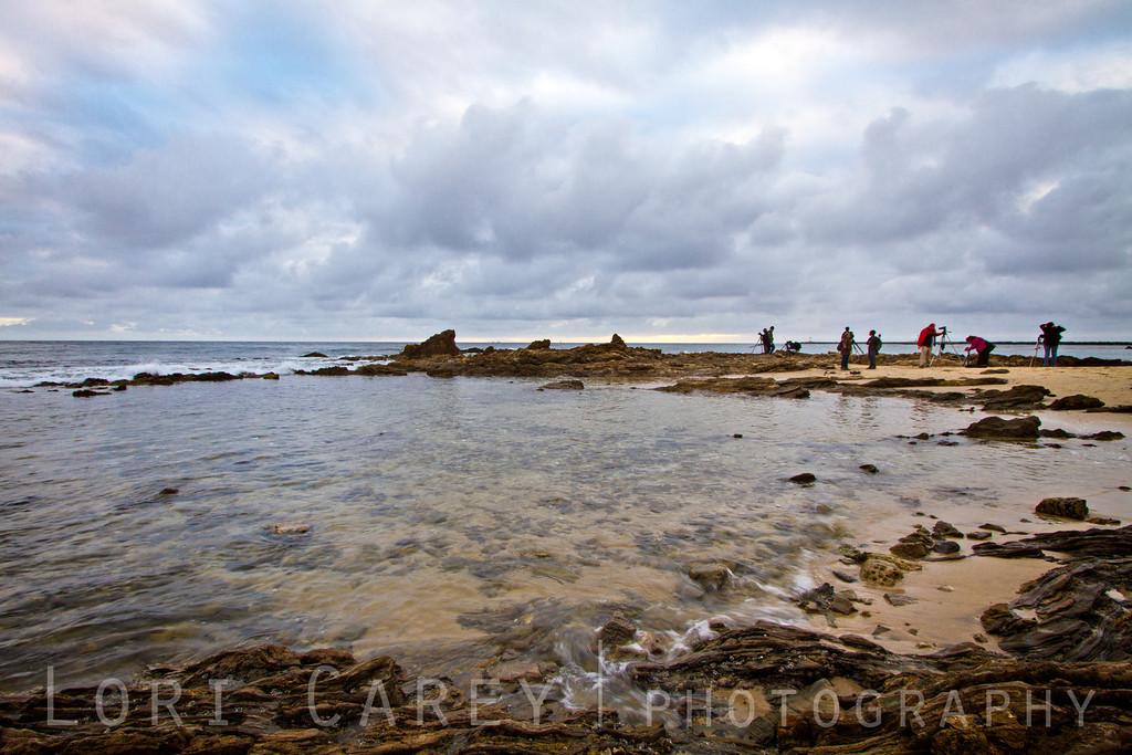 Google+ photographers at Little Corona Beach, Corona del Mar, California