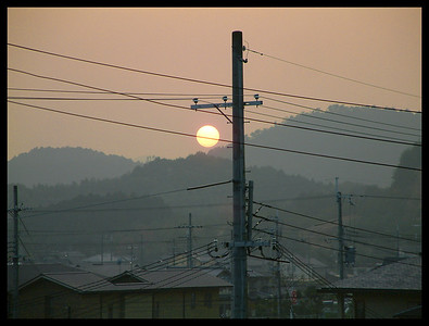 Sunset in Iwakura