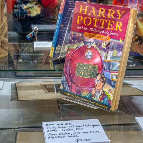 Paperbacks, too!  A first edition Harry Potter and the Philospher's Stone