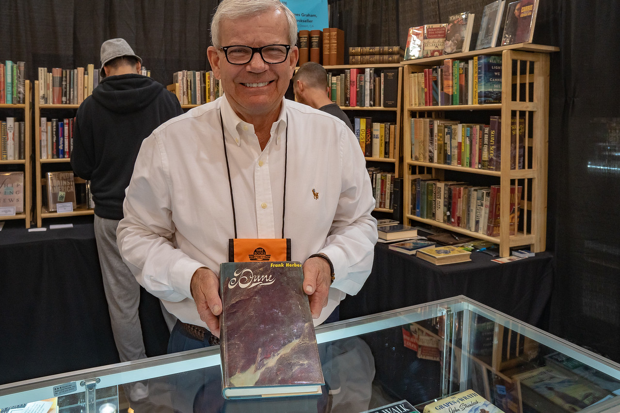 Jim Graham with first edition Dune