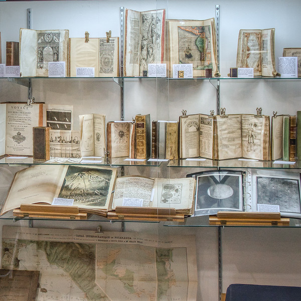 Old books and maps on display at Rare Books Los Angeles