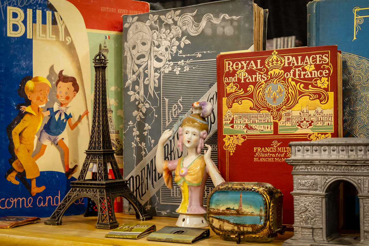 Books and decorative arts about Paris on display at Rare Books LA