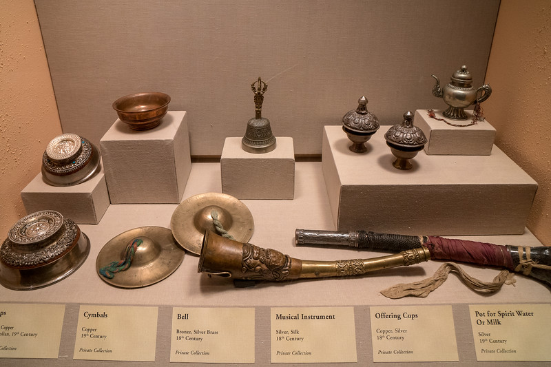 Bronze and Copper Cups and Musical Instruments
