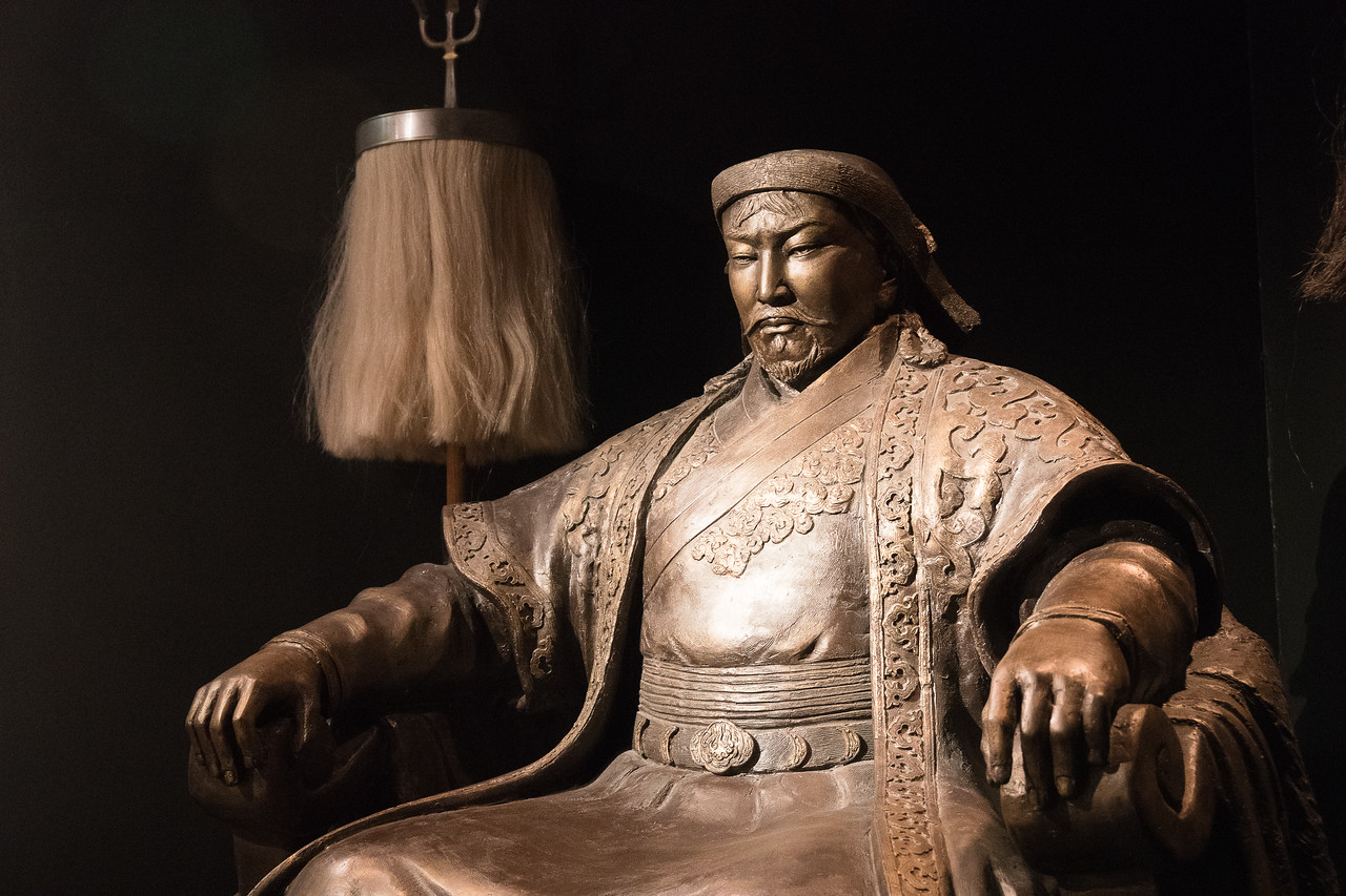 Small version of Ulaanbaatar statue of Genghis Khan