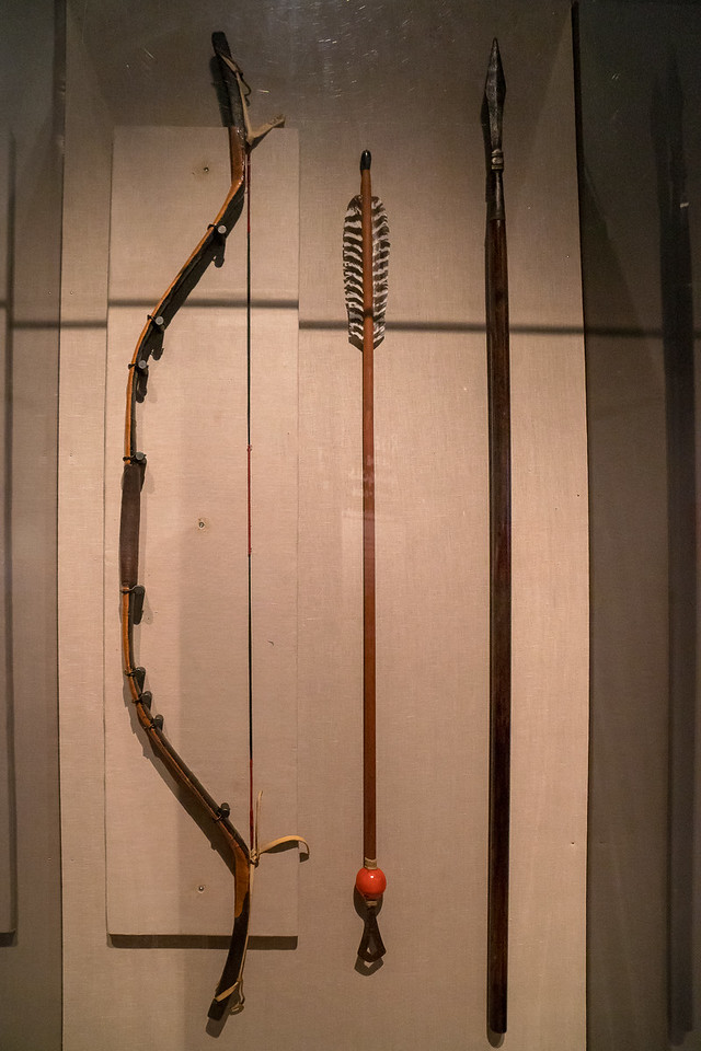Mongolian bow, arrow and spear