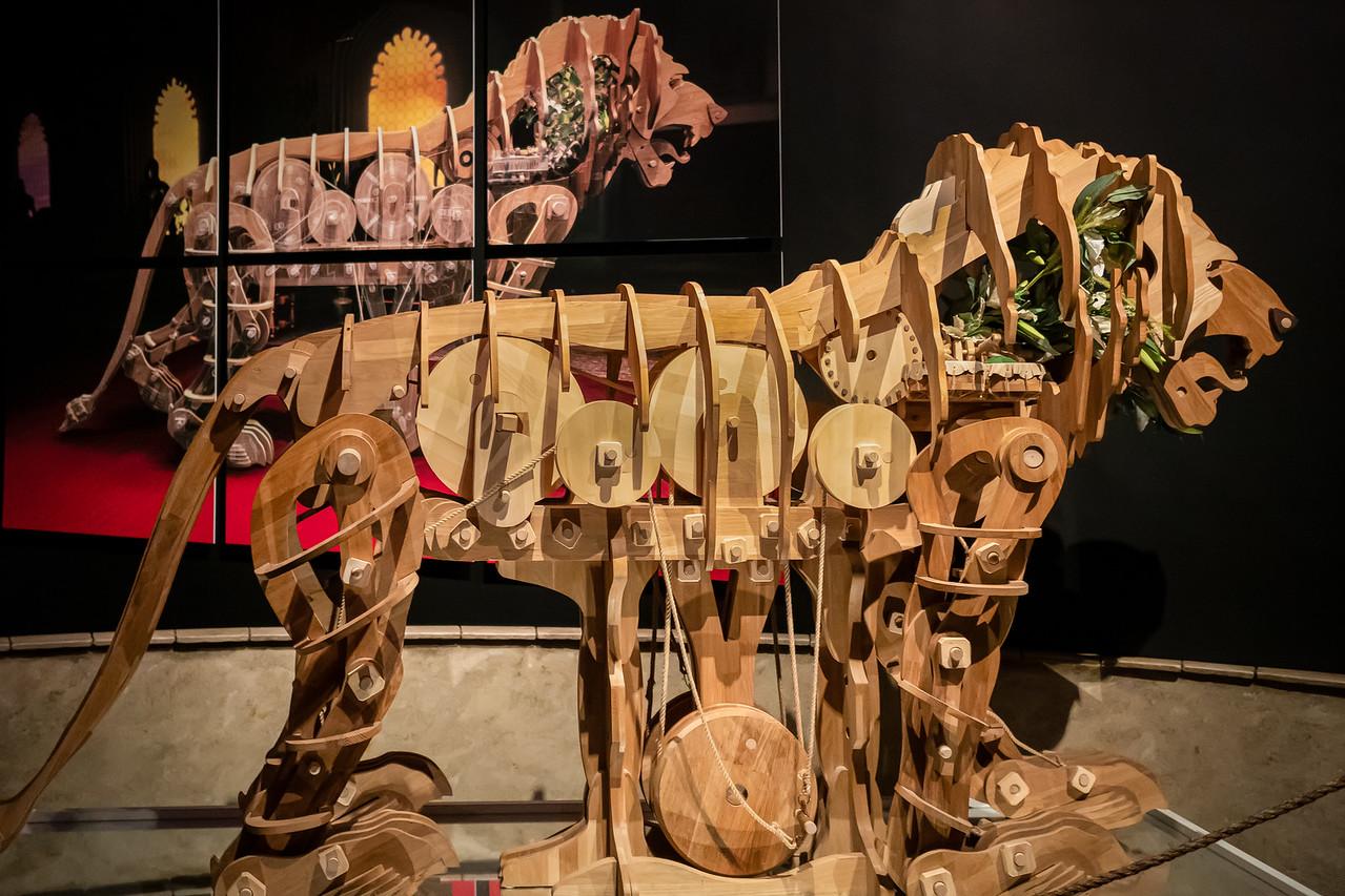 Mechanical lion of Leonardo da Vinci