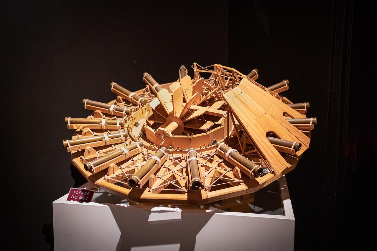 The Multi-Cannon Gunship of da Vinci