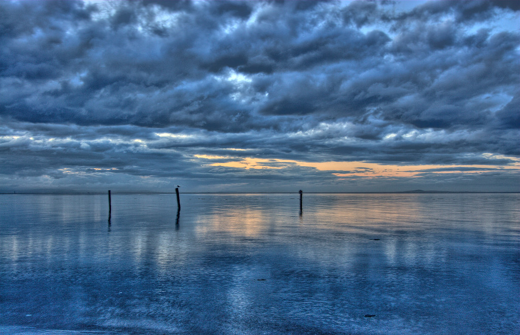 Dungeness Bay with a storm brewing( what else is new when you are next door to a rain forest- Olympic National Park) in Sequim ( pronounced Skwim) in the state of Washington.