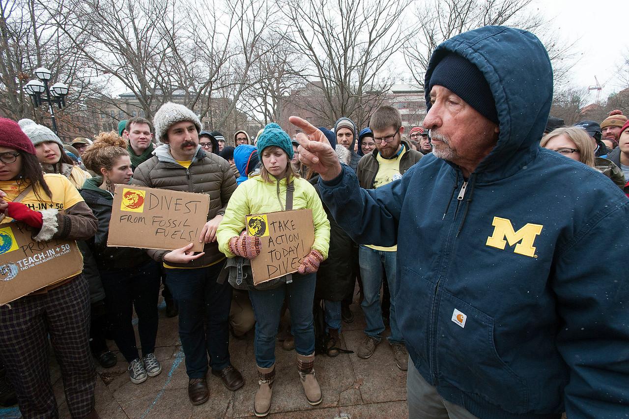 Activist Tom Hayden Speaks in Ann Arbor