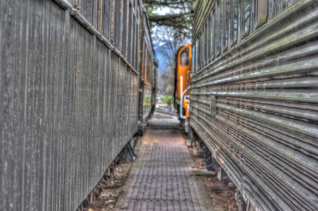 Train museum near Snoqualamie Falls (HDR)