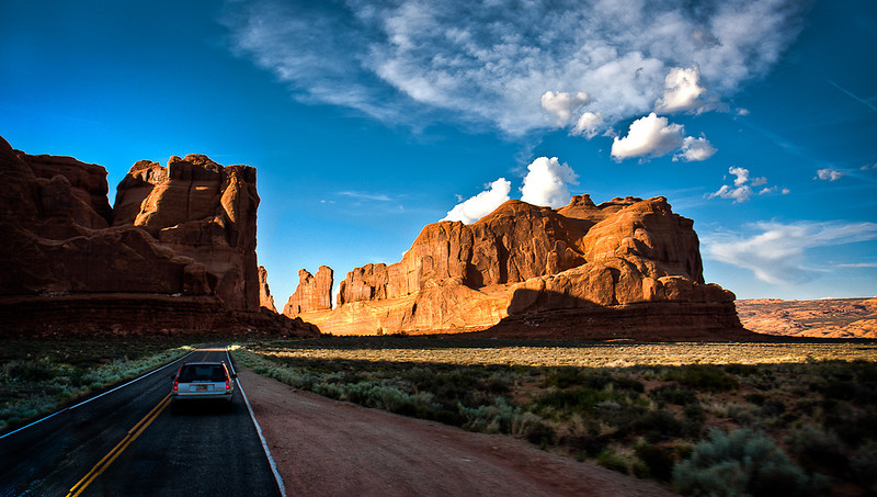 """Driving through Stone Paradise"""