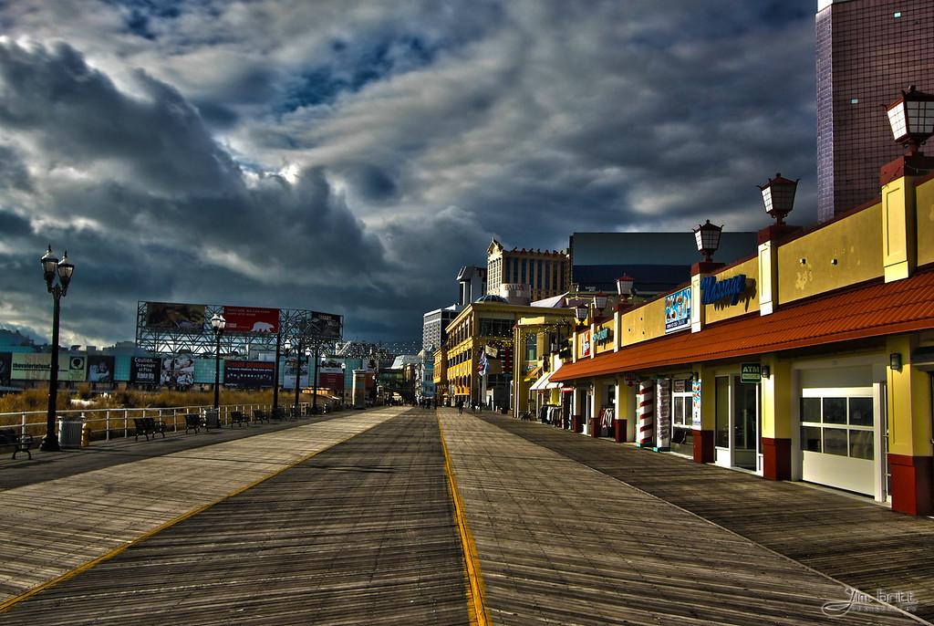 Atlantic City, NJ - Very quiet boardwalk in December.