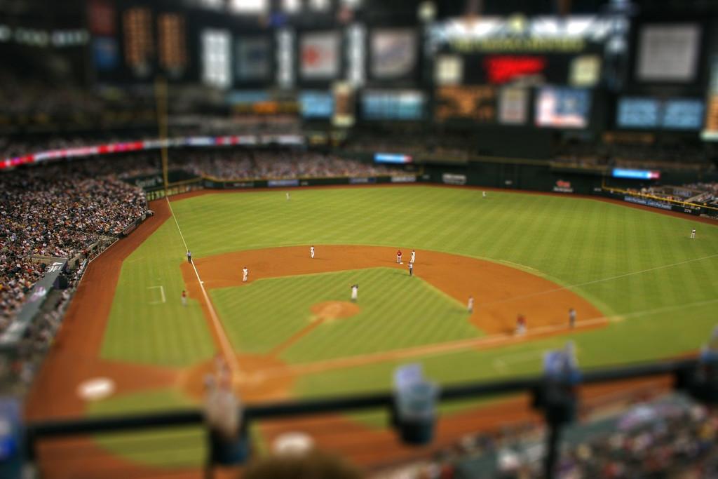 Tilt Shift - Baseball field.