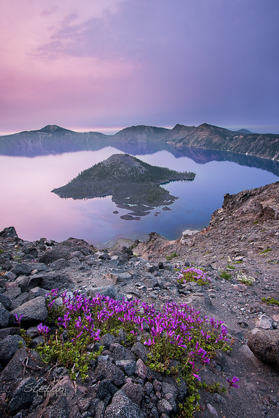 """Crater Lake Sunrise"""
