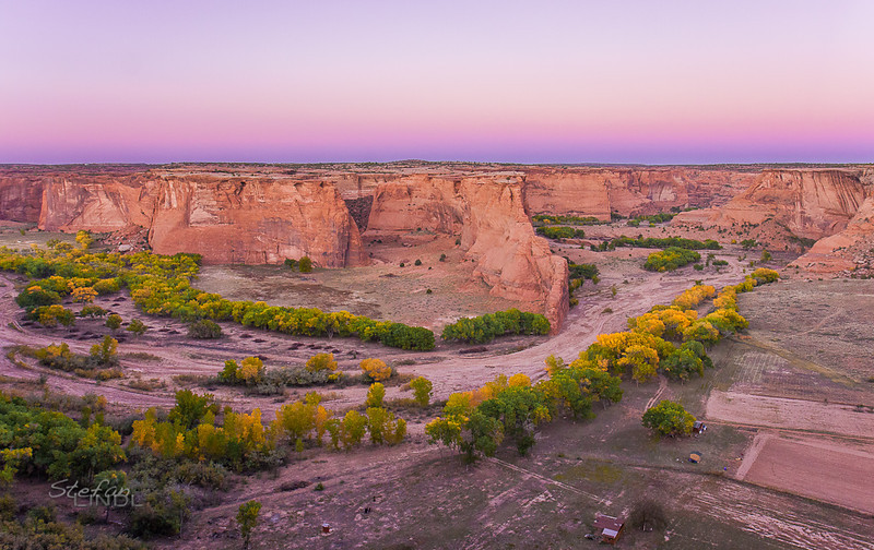 """Canyon De Chelly after Sunset"""