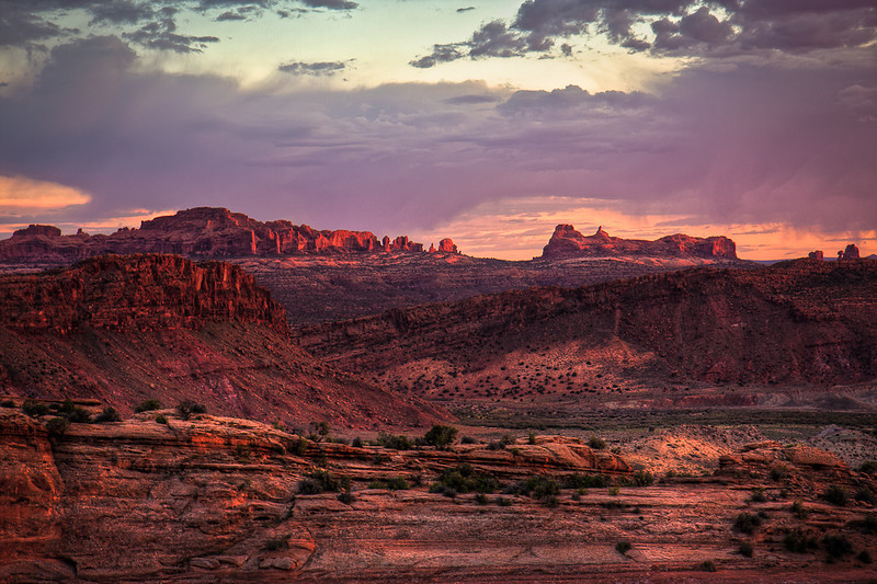 """Stormy Sunset in the Canyons 2"""