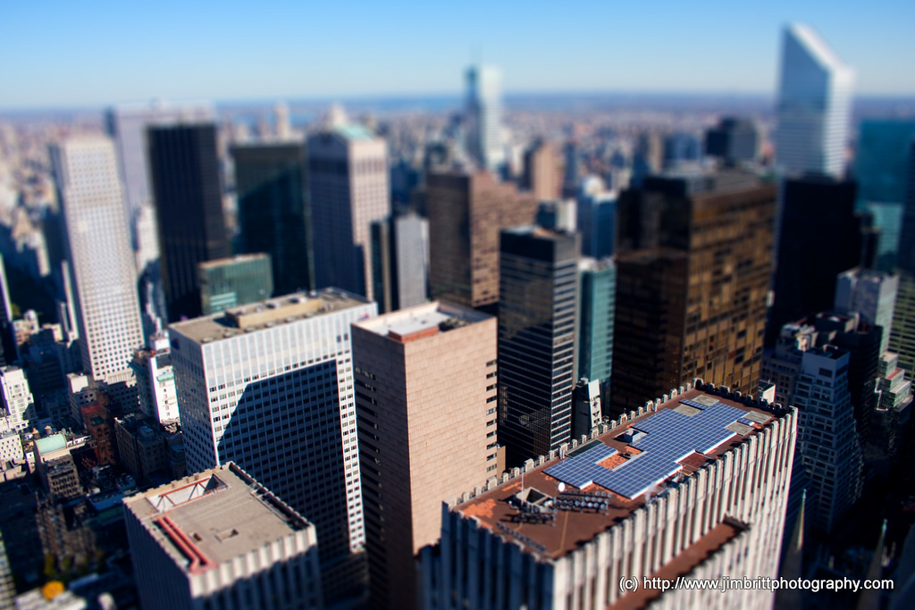 Tilt / Shift shot of Manhattan, NY.  Not for everyone of course and it is just sort of growing on me right now but figured I'd give it a shot for sure :).