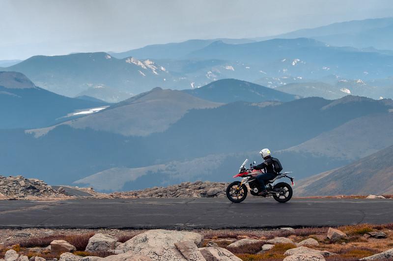 Bike on Mt. Evans summit road