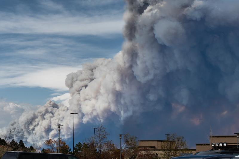 Colorado fires from Boulder