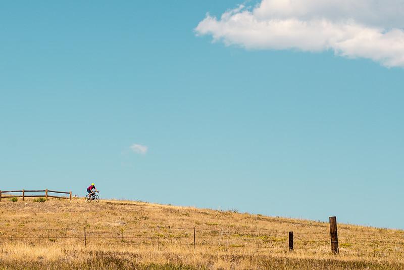 Solo biker in Boulder