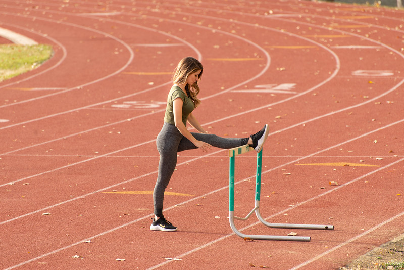 Stretching on the track