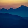 Purple mountains.  Majestic
