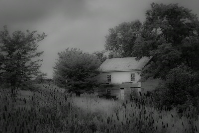 Abandoned Farmhouse, IR process B&W