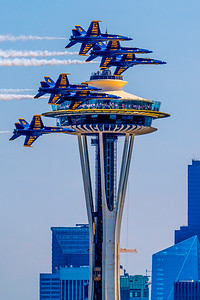 Blue Angels & Space Needle