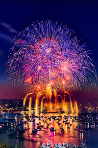 Fourth of July Fireworks over Lake Union