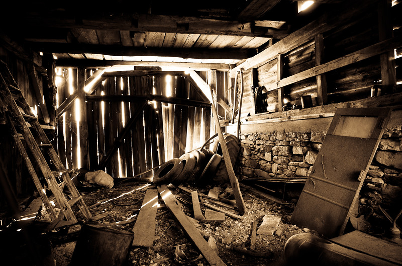 Inside of barn at Buttonwood Farms, CT