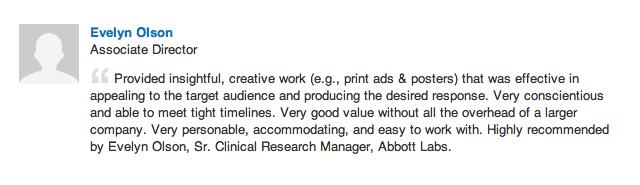 Evelyn Olson - Abbott Labs Marketing Director