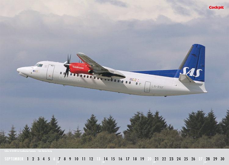 Cockpit Calendar – Airliner Sep 2009 - LN-RNF