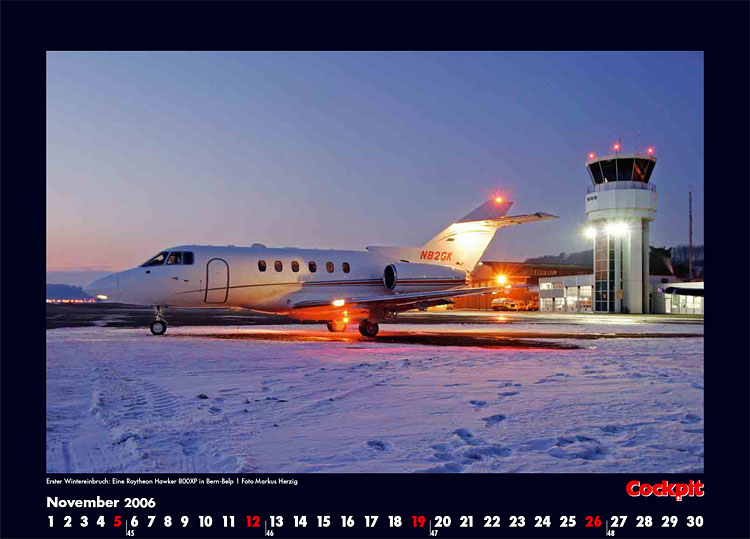 Cockpit Calendar – Nov 2006