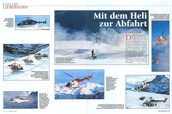 Swiss Aviation - Gallery Lauberhorn Feb 1999