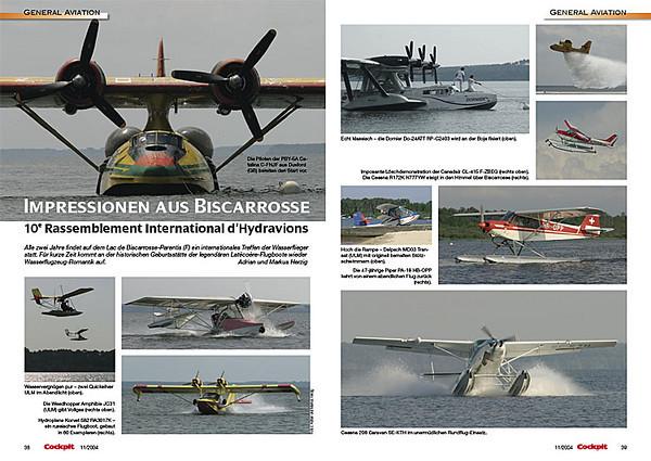 Cockpit - Impressionen aus Biscarrosse Nov 2004